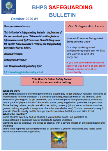 Safeguarding Bulletin cover