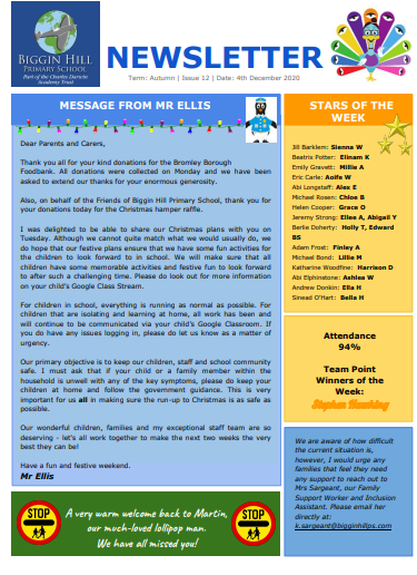 Parent Newsletters cover